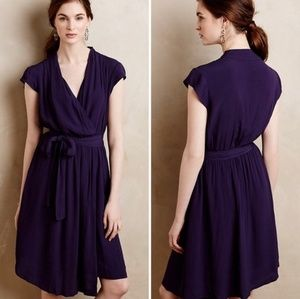 Anthropologie Maeve Noronha Wrap Dress Purple